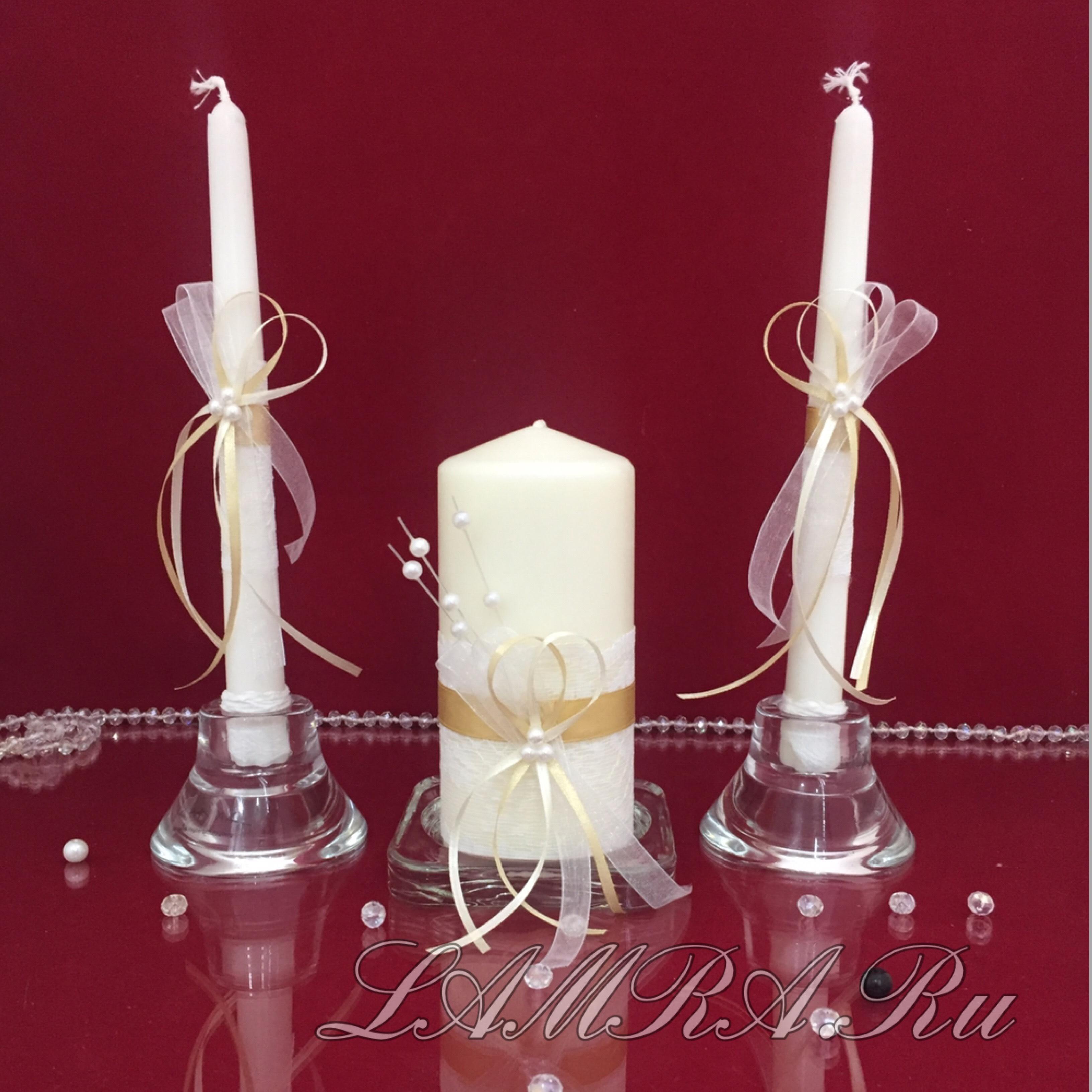 Украшение свечей на свадьбу своими руками: мастер-класс с фото 36