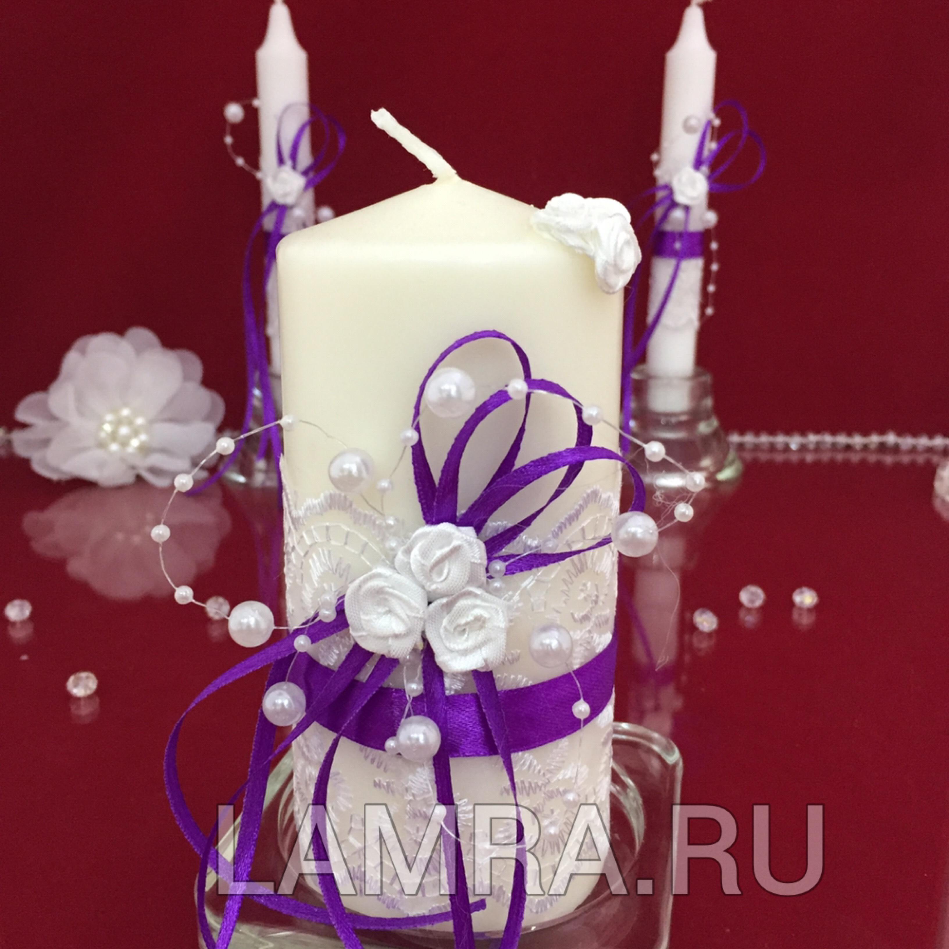 Свечи для молодоженов своими руками 4